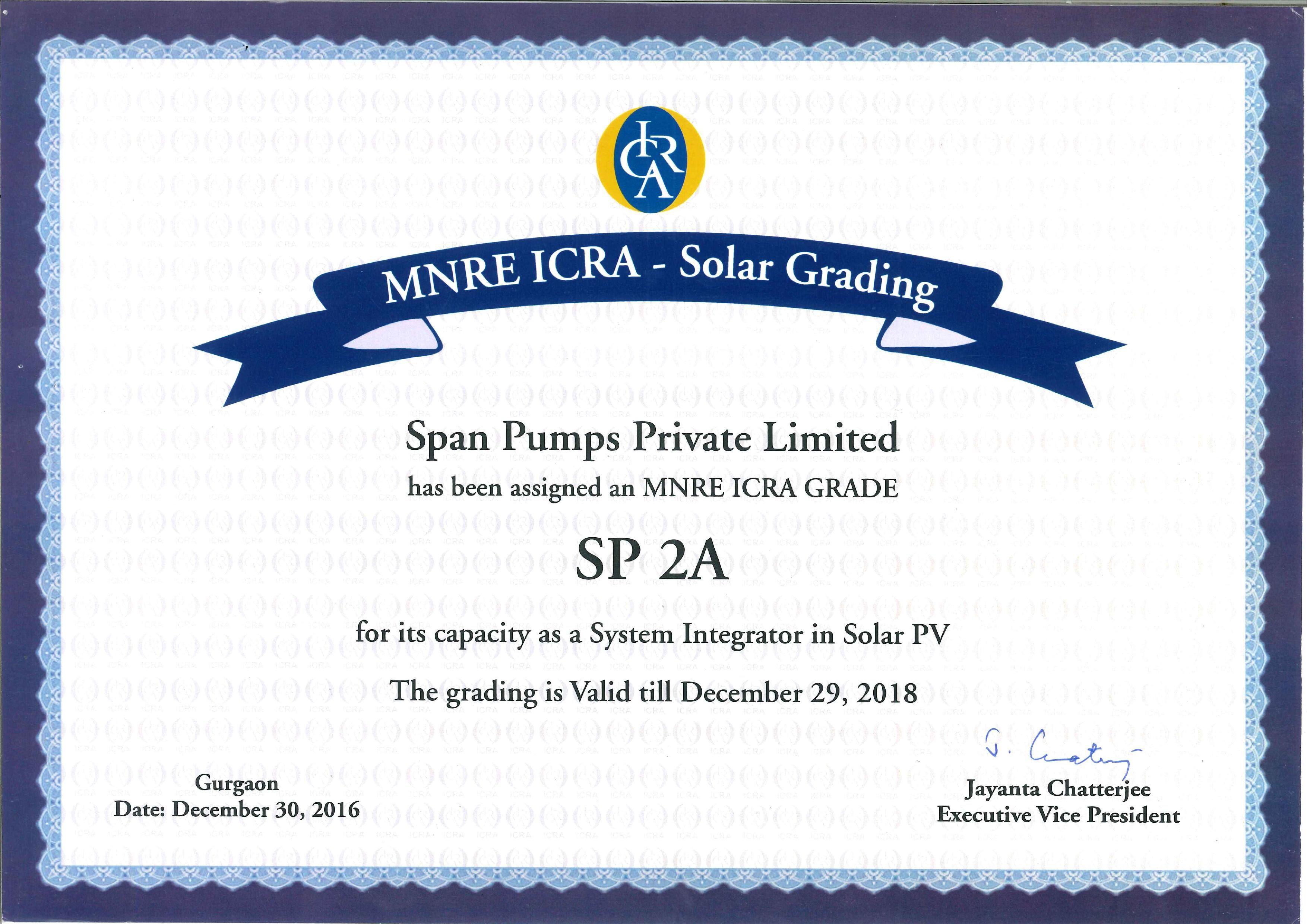 MNRE SP 2A ICRA GRADING